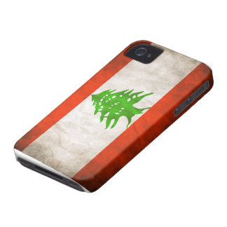 Grungy Libanon flagga Case-Mate iPhone 4 Skydd