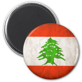 Grungy Libanon flagga Magnet