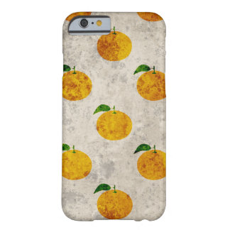 Grungy orange fruktmönsteriphone case barely there iPhone 6 fodral