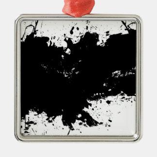 Grungy Splattered bläckbakgrund Julgransprydnad Metall
