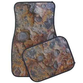 Grungy stenstruktur för geologi golvmatta bil