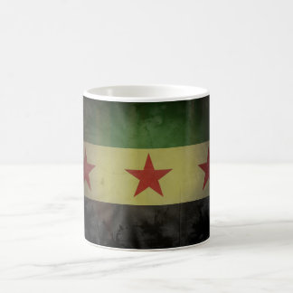Grungy Syrien flagga Kaffemugg