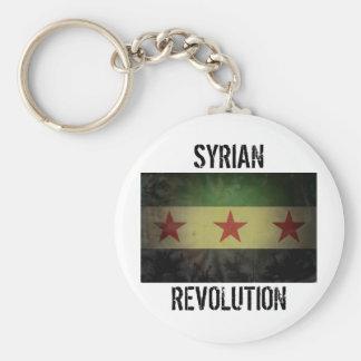 "Grungy Syrien flagga ""syriansk revolution "", Rund Nyckelring"