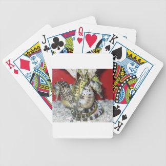 Grupp av Gult-Grönt, brunt- & vithavshästar Spelkort