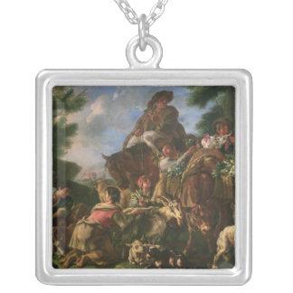 Grupp av shepherds med en häst silverpläterat halsband