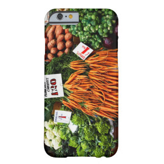 Grupper av morötter och grönsaker marknadsför på barely there iPhone 6 skal