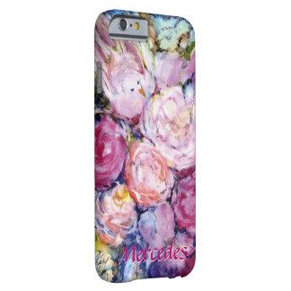 Grupper av rosa blommor och den rosa fågeln ditt barely there iPhone 6 fodral