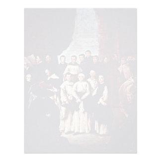 Gruppfoto av Venetian munkar, Canons och medlemmar Personliga Brevhuvud