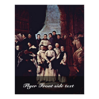 Gruppfoto av Venetian munkar, Canons och medlemmar Reklamblad 21,5 X 30 Cm