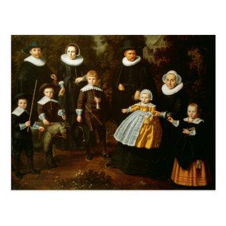 Gruppporträtt av tre generationer av a vykort