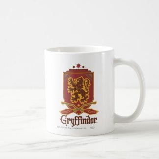Gryffindor Quidditch emblem Vit Mugg