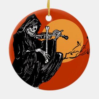 Grym Reaper för vintage Julgransprydnad Keramik