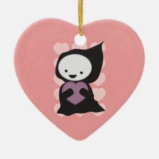 Grym Reaper med hjärtaprydnaden Julgransprydnad Keramik