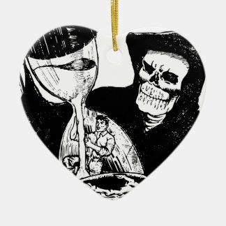 Grym Reaper och man Julgransprydnad Keramik