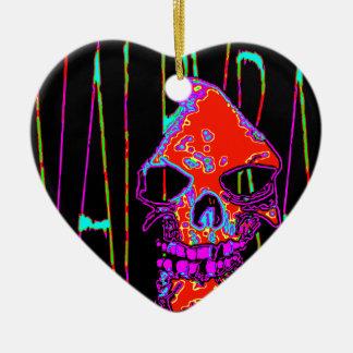 Grym Reaper över VALPYRA som är röd vid Valpyra Julgransprydnad Keramik