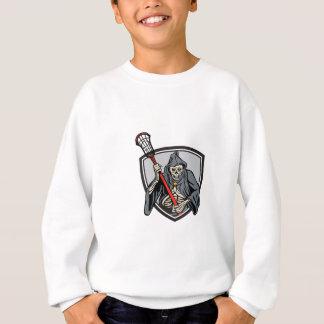 Grym Retro Crosse för ReaperLacrossespelare pinne T Shirt