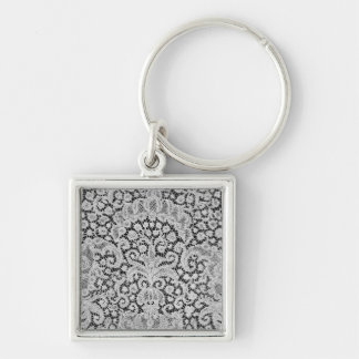 Gryning Bryssel, c.1725-1730 Fyrkantig Silverfärgad Nyckelring