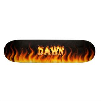 Gryningskateboarden avfyrar och flammar design skateboard bräda 21,5 cm
