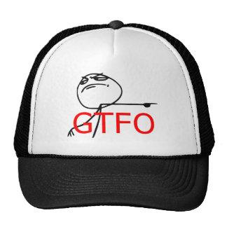 GTFO får ut tecknaden Meme för grabbursinneansikte Keps