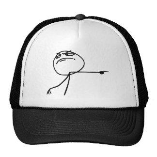 GTFO får ut tecknaden Meme för grabbursinneansikte Baseball Hat