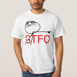 GTFO får ut tecknaden Meme för grabbursinneansikte Tröjor