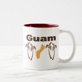 Guam med palmträd Två-Tonad mugg