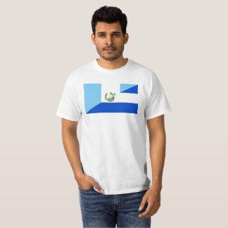 guatemala El Salvador halvt flaggasymbol Tee Shirt