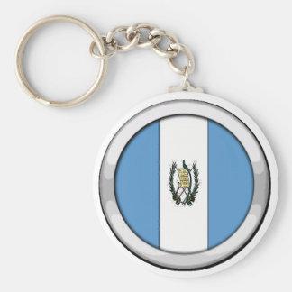 Guatemala emblem rund nyckelring