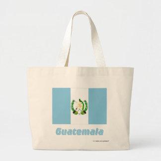 Guatemala flagga med namn tote bag