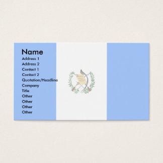 Guatemala flagga visitkort