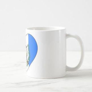 Guatemala flaggahjärta kaffemugg