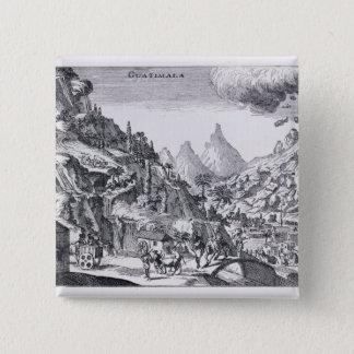 Guatemala', i spanska Nordamerika Standard Kanpp Fyrkantig 5.1 Cm