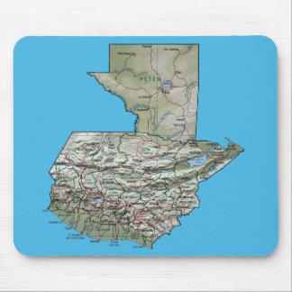 Guatemala karta Mousepad Musmatta