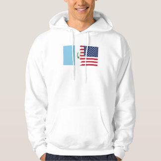 Guatemalansk amerikanska flaggan tröja med luva