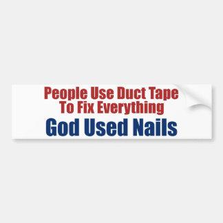 Gud använda naglar (den kristna bildekalet) bildekal