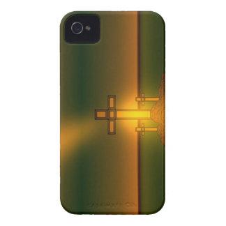 Gud Aura tänder över kor av Kristus BlkBerry iPhone 4 Fodral
