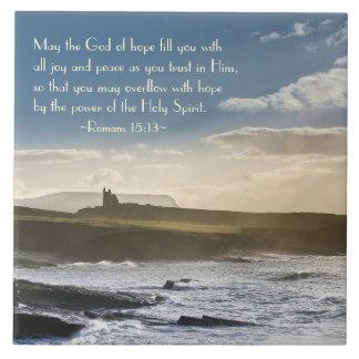 Gud av hopp, Verse för Romans15:13bibel, irländsk Kakelplatta