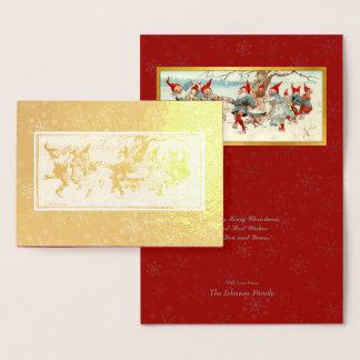 Gud Jul - svensk vykortjulkonst #2 Folierat Kort