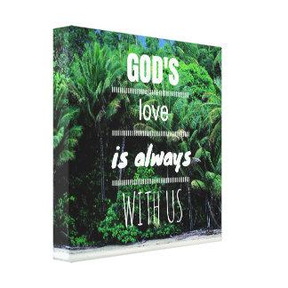 Gud kärlek är alltid med oss kanvastrycket canvastryck