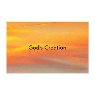 Gud skapelse canvastryck