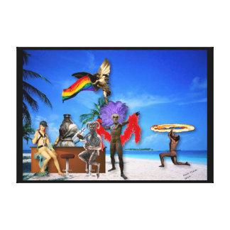 Gudar på det Themed konstbiet för strand LGBT Canvastryck