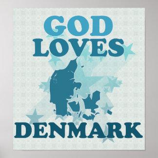 Guden älskar Danmark Affisch