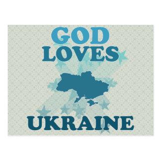 Guden älskar Ukraina Vykort
