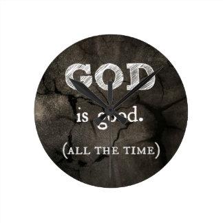 Guden är den bra… hela tiden beställnings- kristen rund klocka