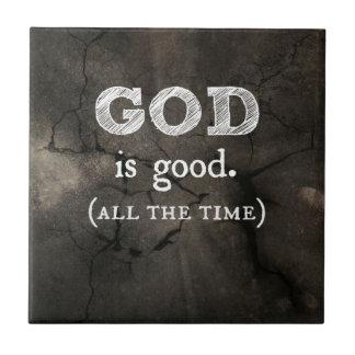 Guden är den bra kristna gåvan kakelplatta