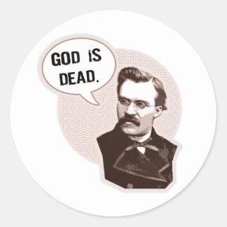 Guden är död (Nietzsche) Runt Klistermärke