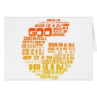 Guden är en DJ - Turntable för Hälsningskort
