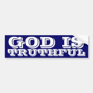 Guden är sannfärdig bildekal