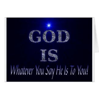 Guden är…, Spelar ingen roll dig något att säga är Hälsningskort