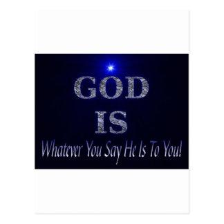 Guden är…, Spelar ingen roll dig något att säga är Vykort
